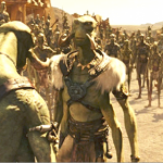 Taylor Kitsch and Willem Dafoe in Andrew Stanton's John Carter