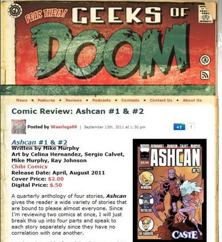 "Geeks of Doom Review of John Carter and the Gods of Hollywood  gives book a ""Grade A"""