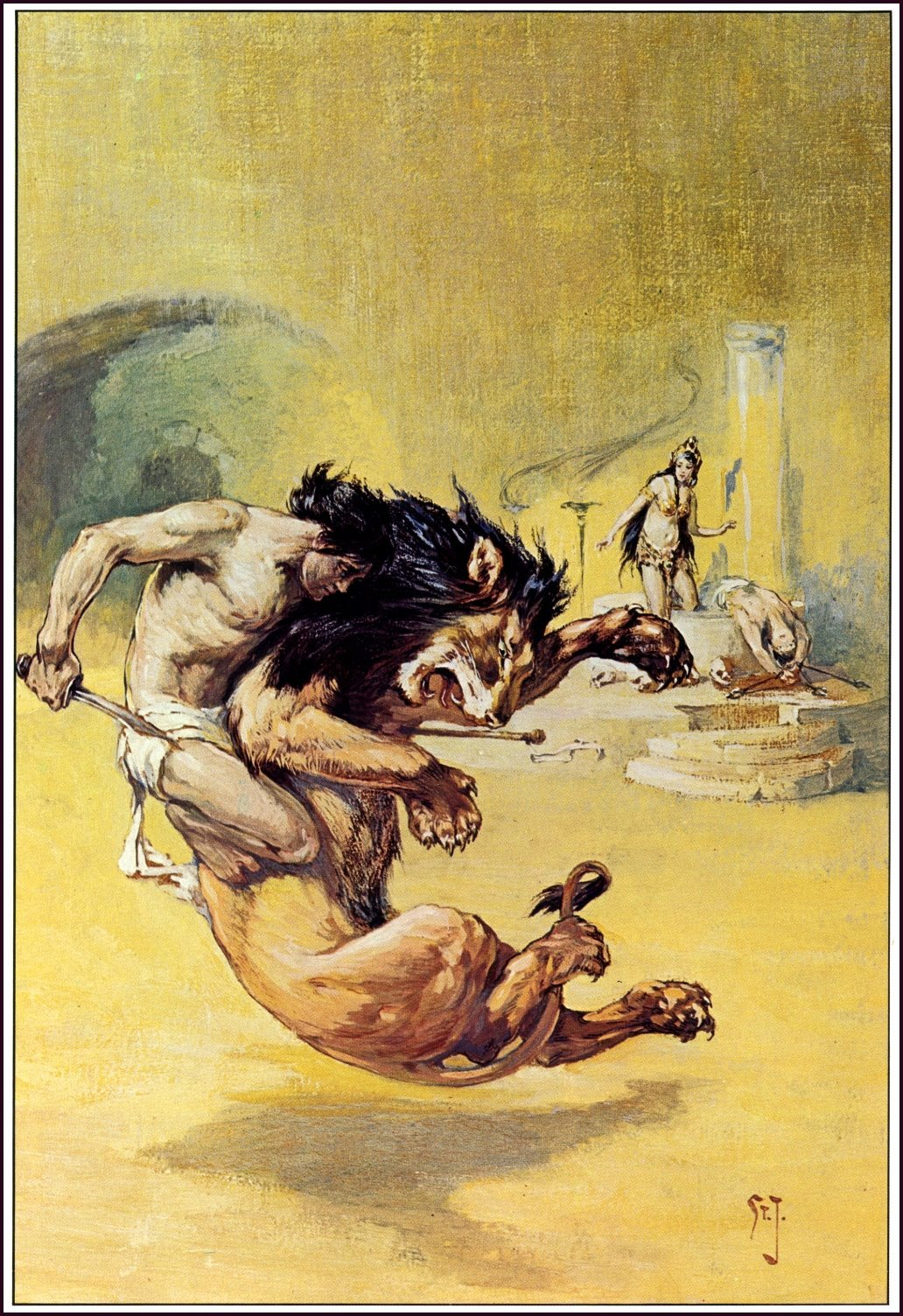A Rare Glimpse of Edgar Rice Burroughs' Favorite Illustrator, J. Allen St. John