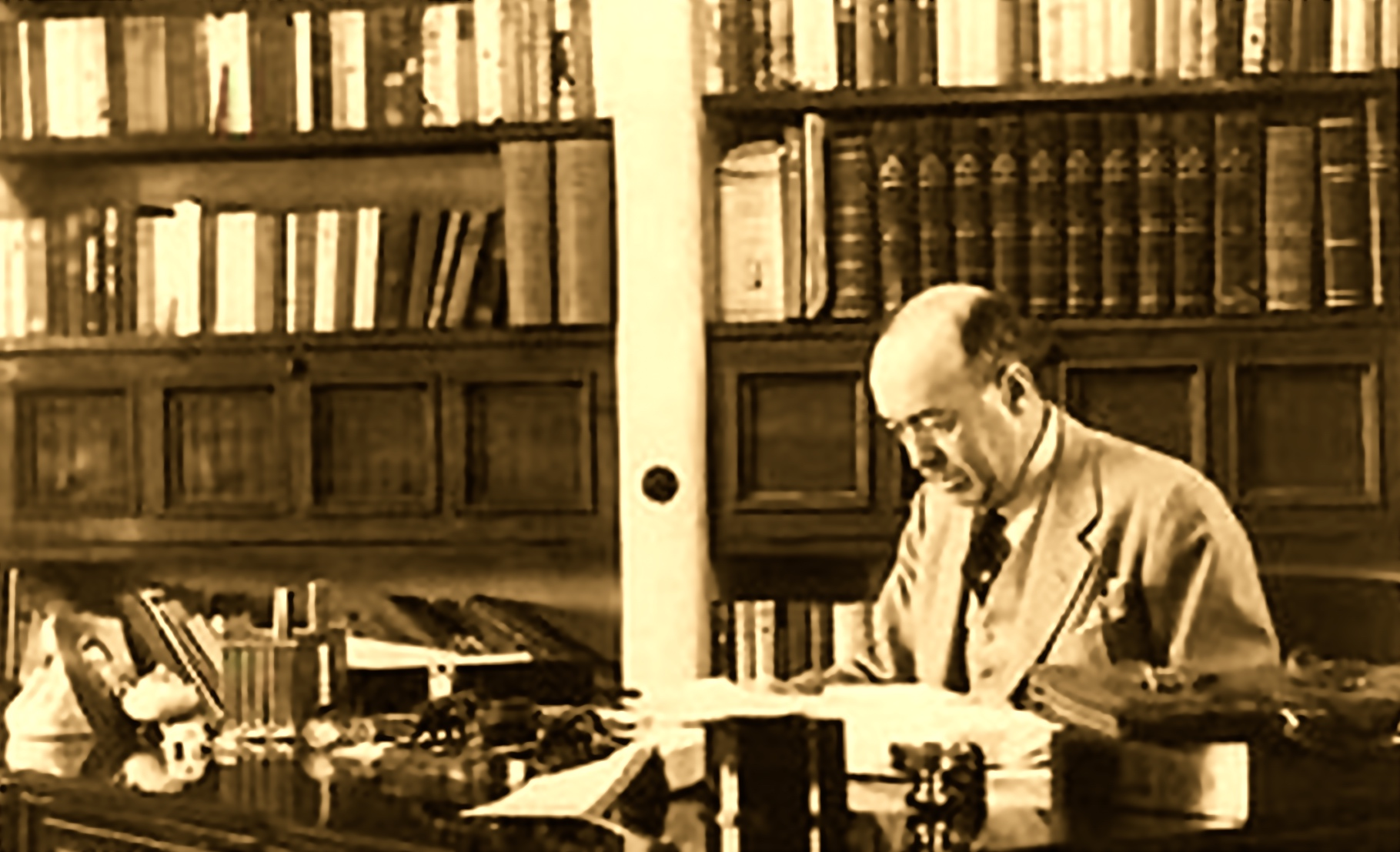 ERB in his Library