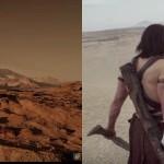A Split Screen Comparison of The Mars of Andrew Stanton in John Carter vs The Mars of Ridley Scott's the Martian